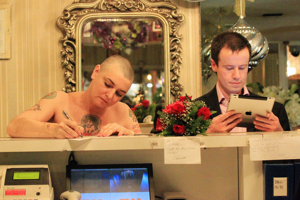 Sinead O'Connor and Barry Herridge married at the Little White Chapel in Las Vegas on Thursday.