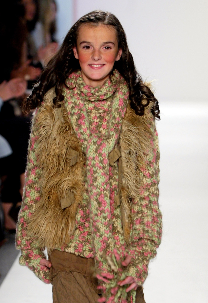 NEW YORK, NY - FEBRUARY 07: Aliana Lohan, Lindsay Lohan's sister, walks down the runway during the Child Magazine Fall 2005 f