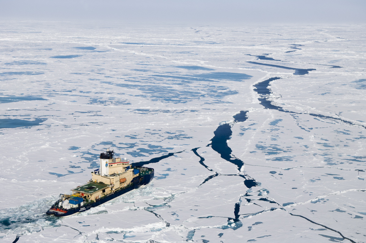 Oden was originally built in Sweden to break ice in the Baltic Sea during winter and to keep the shipping routes open between