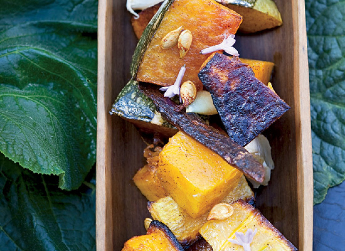 In this winter side dish, butternut or kabocha squash is glazed with coconut milk and tossed with the same spices used to mak