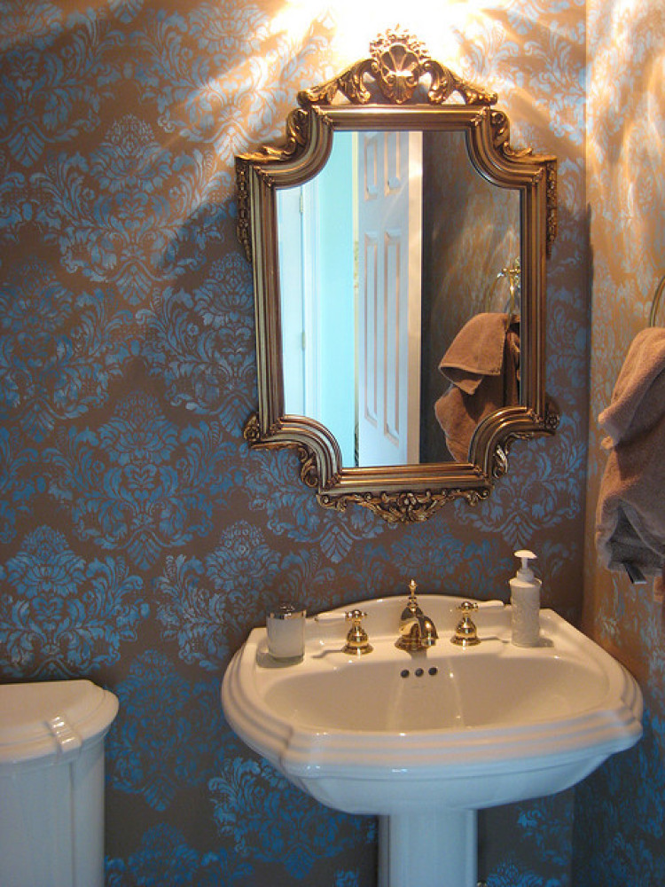 Powder room decorating ideas photos huffpost for Decorate pictures