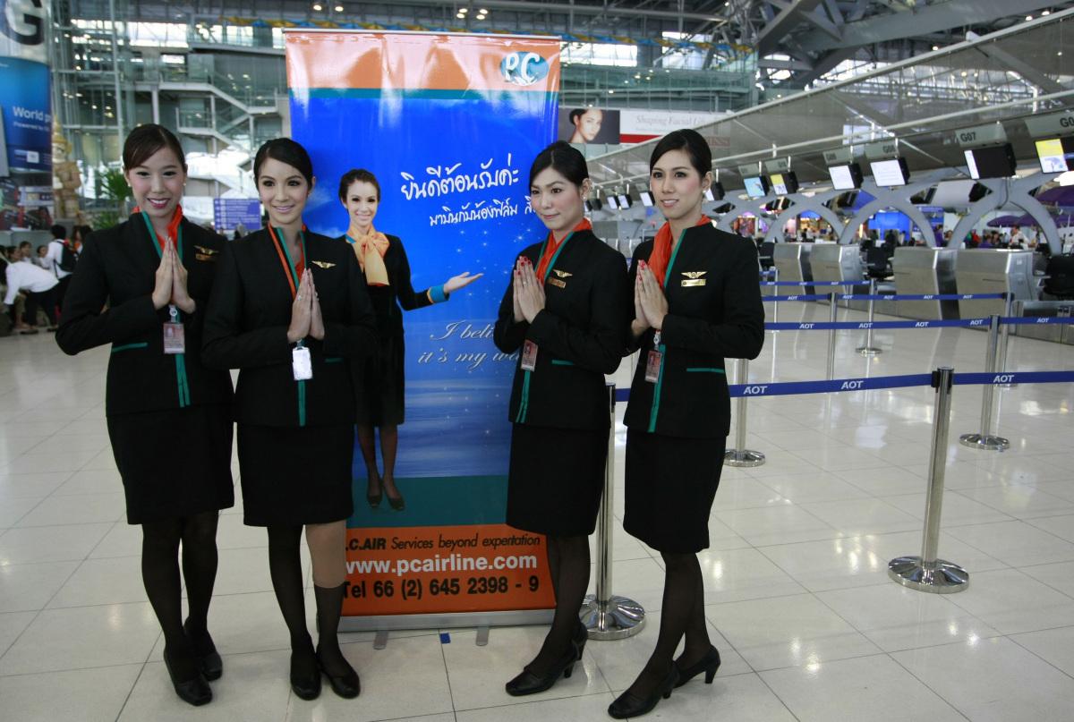 Thailand S Transgender Flight Attendants Pc Air Takes On