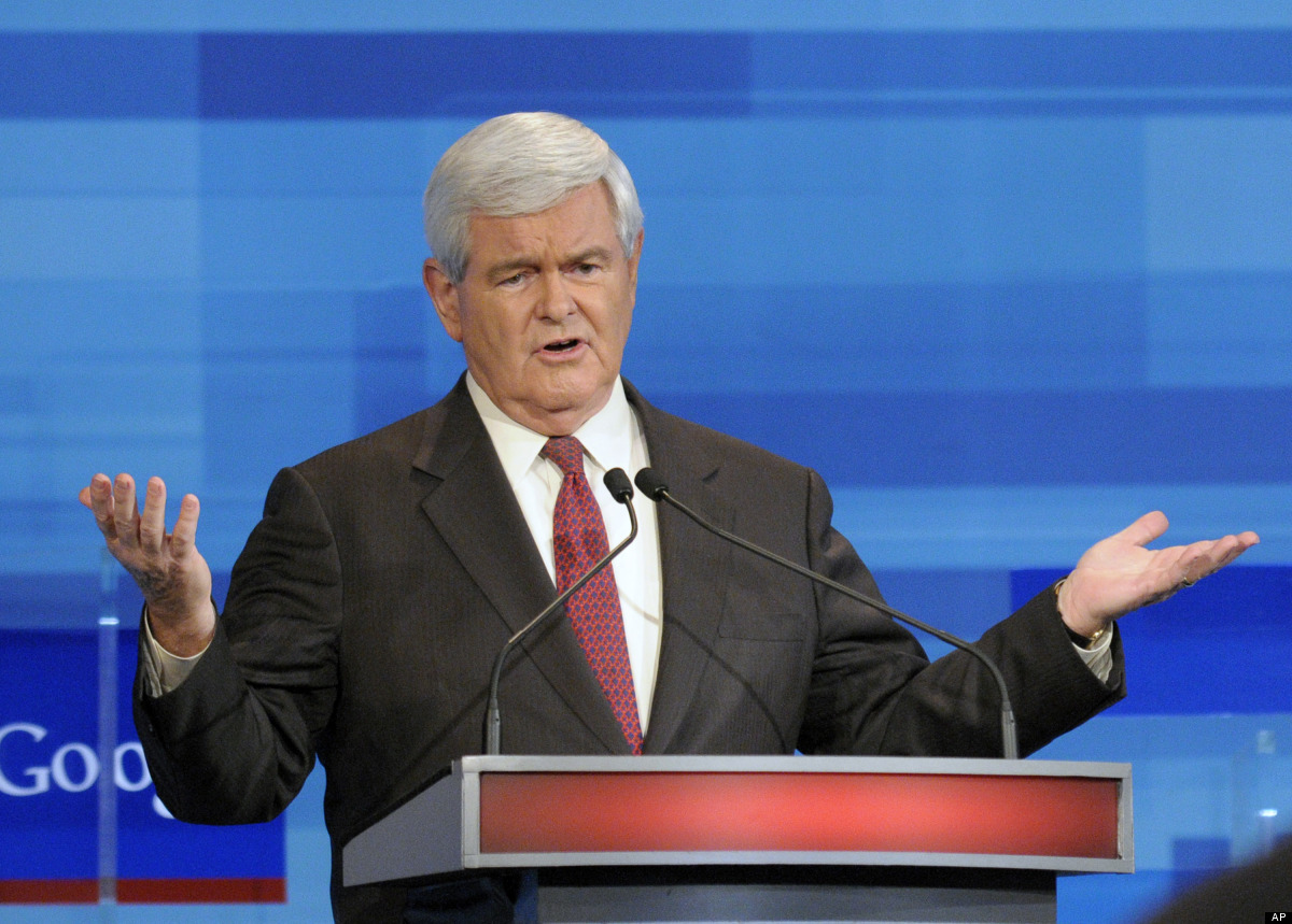 Newt Gingrich is…