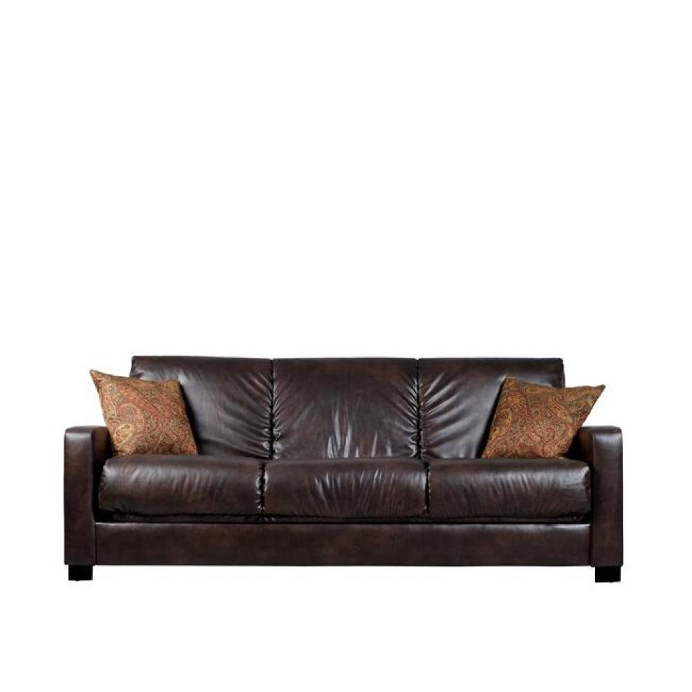 Delicieux Trace Convert A Couch Brown Renu Leather Futon Sofa Sleeper, $535.99, U003c