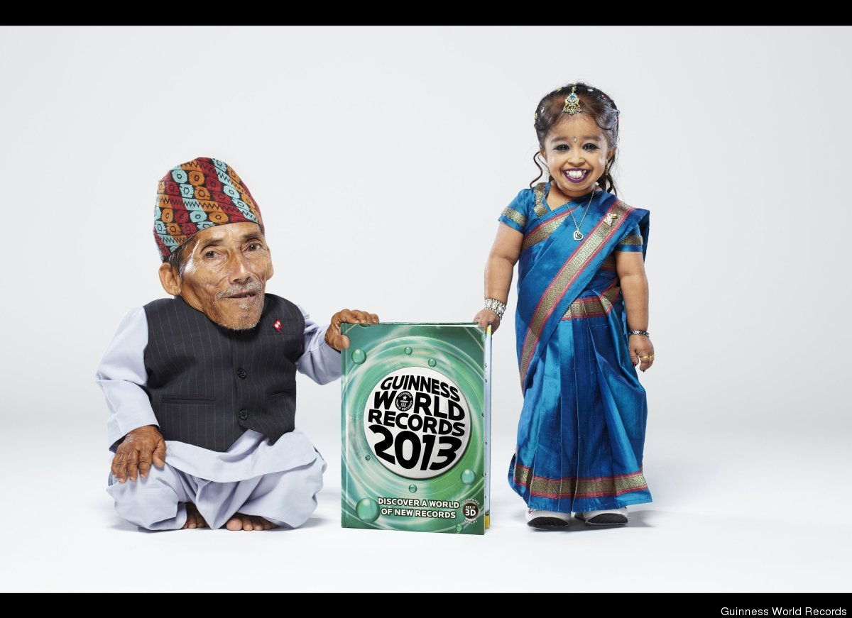 To promote the newest edition of Guinness World Records, Chandra Bahadur Dangi, who at 21.5 inches is the world's shortest ma
