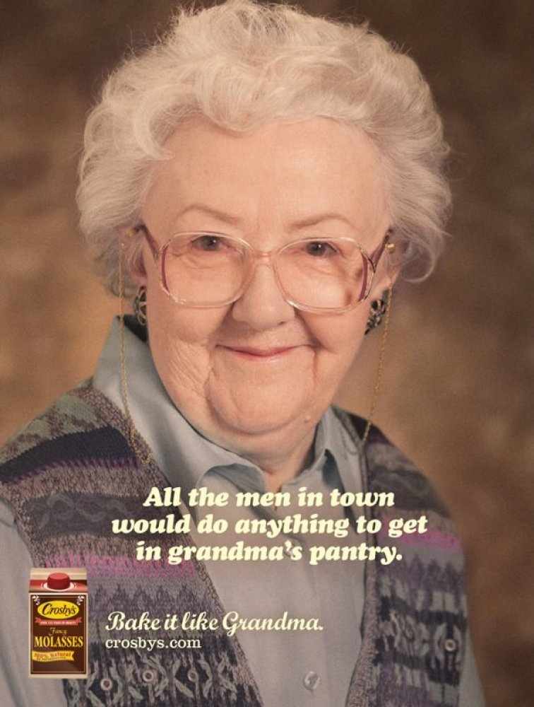 Photos Sexy Grandma Ads Feature Innuendos And Plenty Of -1867