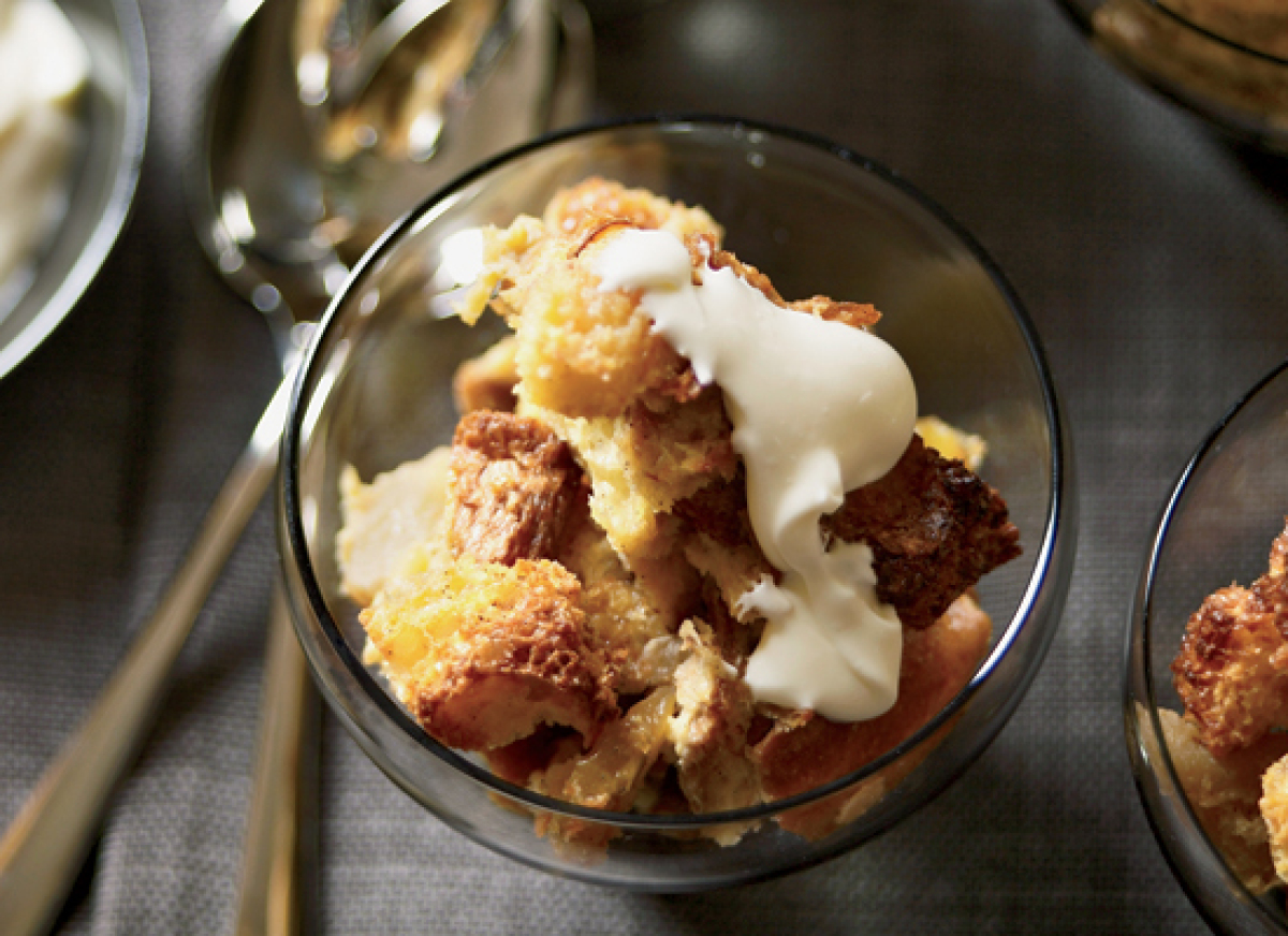 The sauteed apples, brandy and butter in this amazing bread pudding combine to create a quintessential cold weather dessert.