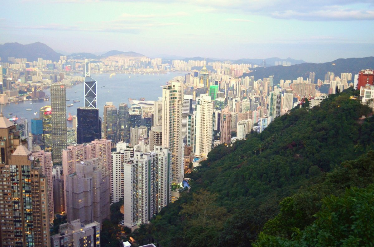 The iconic vista from the top of Victoria Peak, known to locals simply as The Peak.