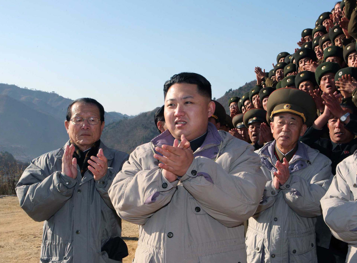 In this undated photo released by Korean Central News Agency via Korea News Service in Tokyo Thursday, Nov. 4, 2010, Kim Jong