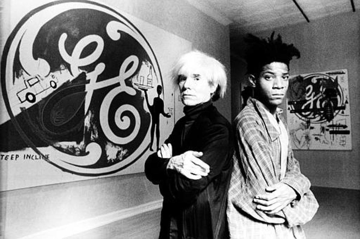 Basquiat and Andy Warhol