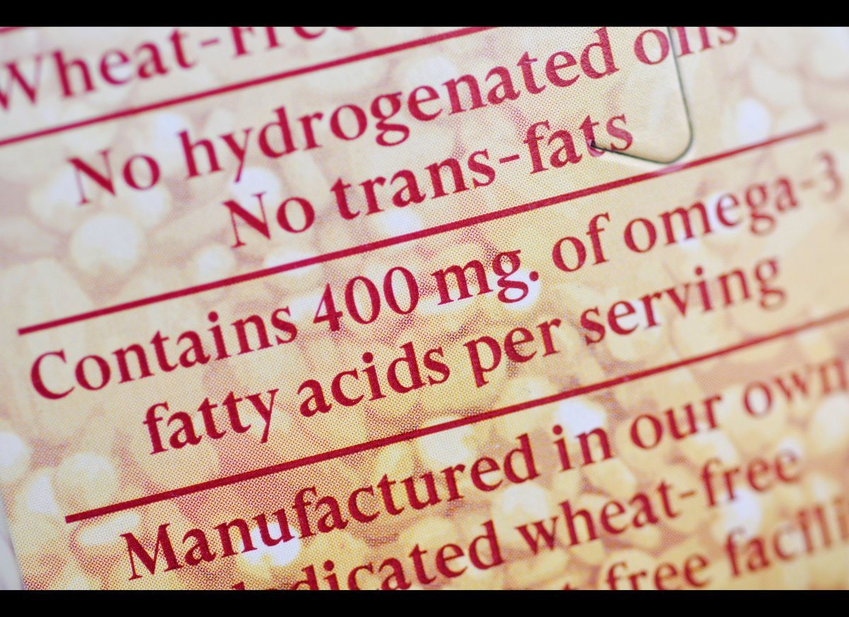 "On labels anything less than 0.5 grams of trans fat -- a ""bad"" fat that's been linked to heart disease and other conditions -"