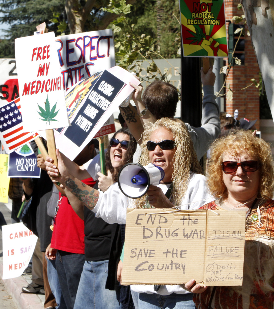 """Medical marijuana advocates in October <a href=""""http://www.huffingtonpost.com/2011/10/27/patient-advocates-sue-federal-govern"""
