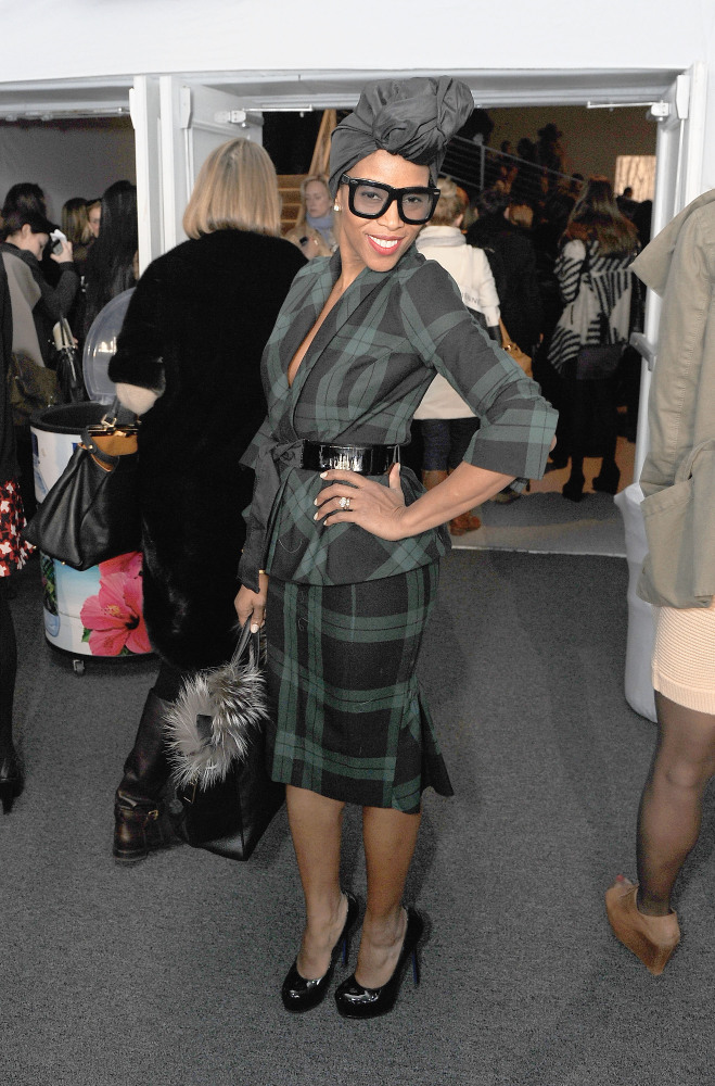 NEW YORK, NY - FEBRUARY 16:  Celebrity Stylist June Ambrose poses during Fall 2011 Mercedes-Benz Fashion Week at Lincoln Cent