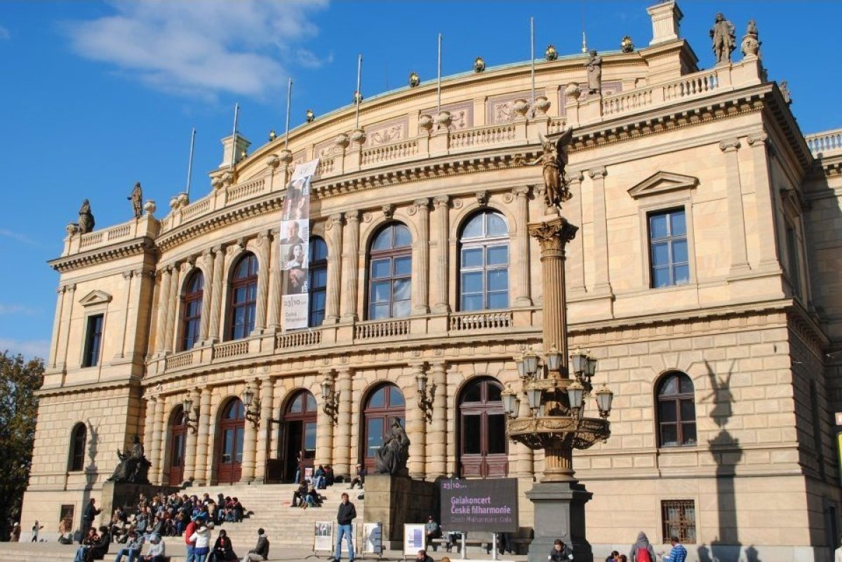 Dvořák Hall, inside the Rudolfinum, is located on the banks of the Vltava River in Prague's Old Town. It is the home of the C