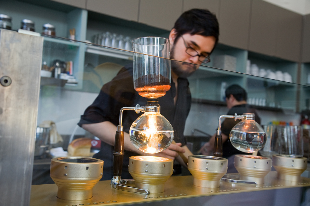 The hipster science experiment that is Blue Bottle Coffee in Mint Plaza may induce an eye-roll from locals who just want thei