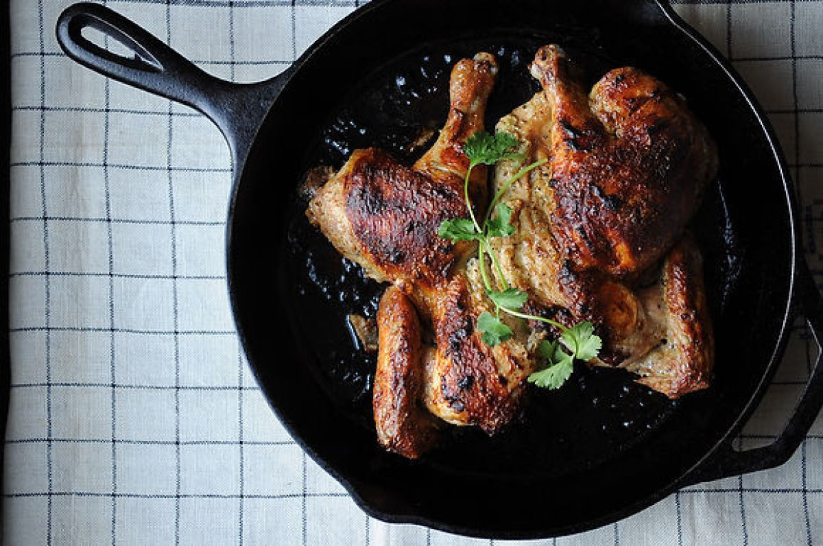 TasteFood turns the everyday roast chicken on its head, simply by bathing it in an intoxicatingly spiced yogurt marinade, but