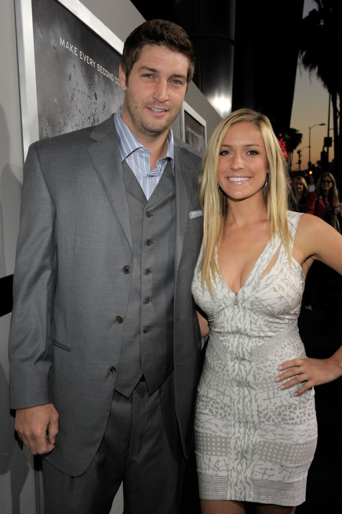 """Kristin Cavallari and Chicago Bears quarterback Jay Cutler <a href=""""http://www.people.com/people/article/0,,20512593,00.html"""""""