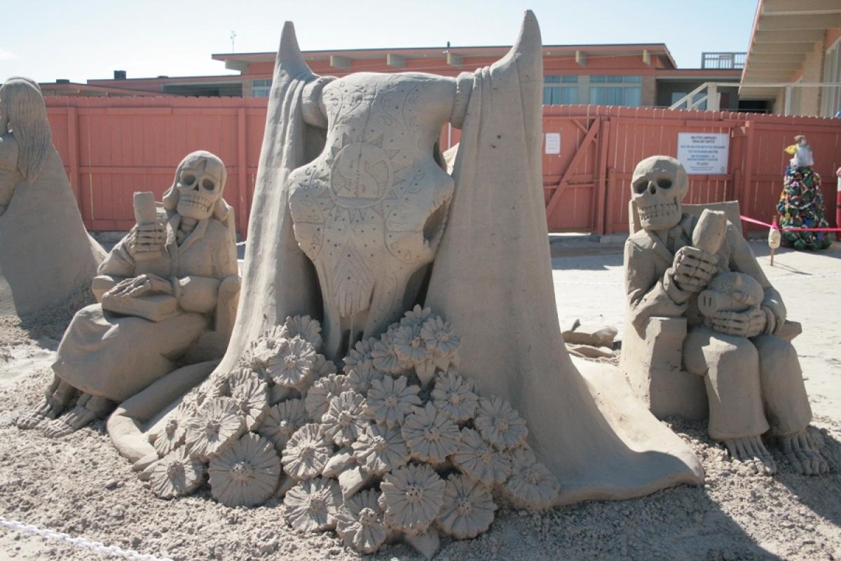 Calavera del Toro; Sand Castle Days, South Padre Island, Texas, October 2011, Gold Medal Winner, just my little bit of suppor