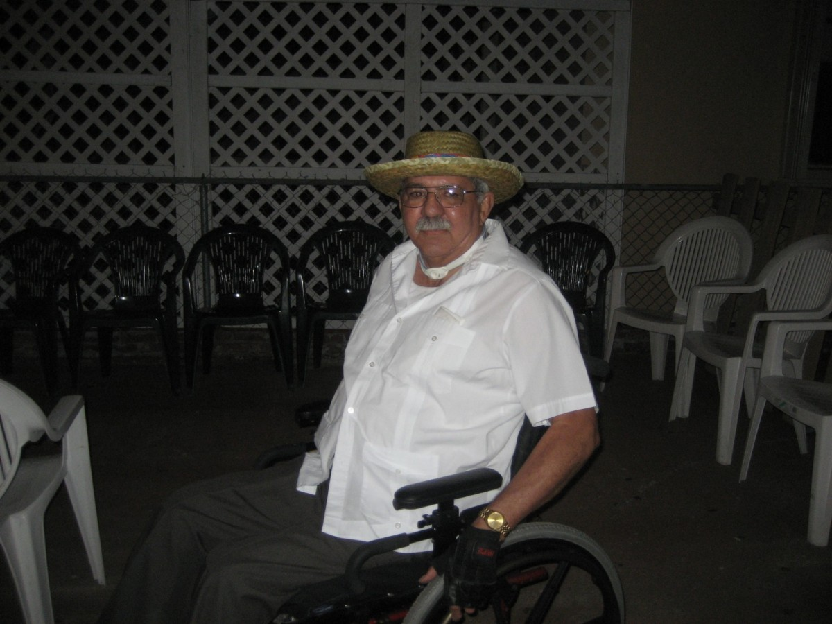 Armando Fontaine, 76, had both legs amputated 10 years ago due to diabetes complications. He and his wife, Martha, have relie