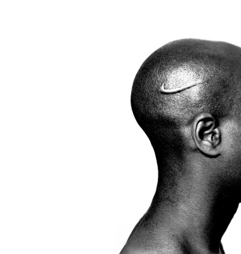 "Hank Willis Thomas, ""Branded Head ""(2003) courtesy of the Artist and Jack Shainman Gallery"