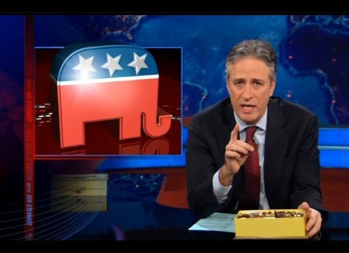 """Jon Stewart returned to the air with disbelief over <a href=""""http://gtcha.me/spee6L"""" target=""""_blank"""">Rick Santorum</a>'s last"""