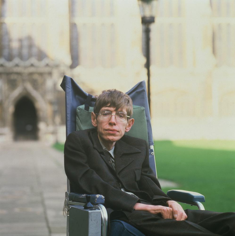 British theoretical physicist Stephen Hawking, Cambridge in January 1993. Photo: David Montgomery/Getty Images