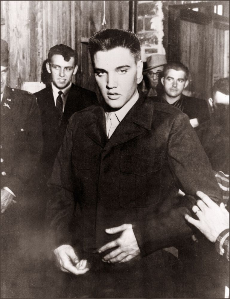 Rock'n roll legend Elvis Presley in file picture dated 26 March 1958 in Fort Chaffee at the beginning of his military service