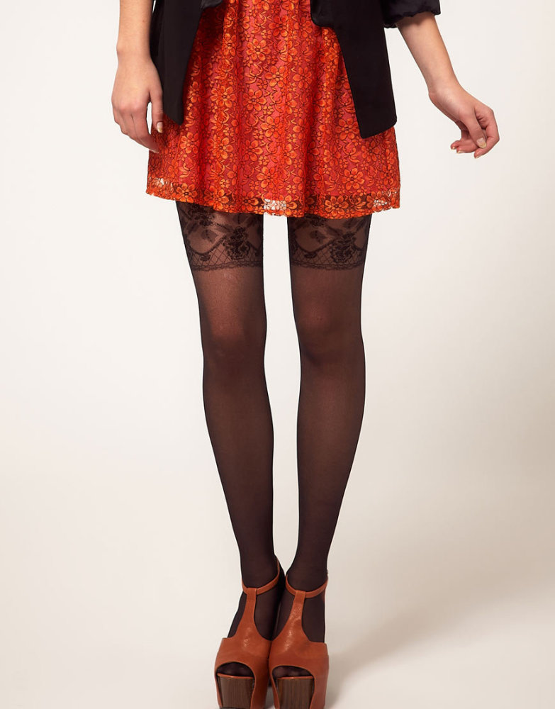 For fans of the lingerie-as-clothing trend, wear a mock garter belt stocking that will do the trick and keep your mother happ