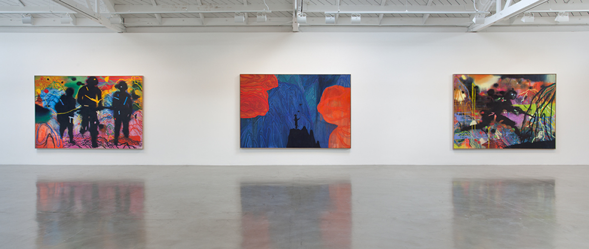 Daniel Richter Installation view: A concert of purpose and action Regen Projects II, Los Angeles January 7-February 18, 20