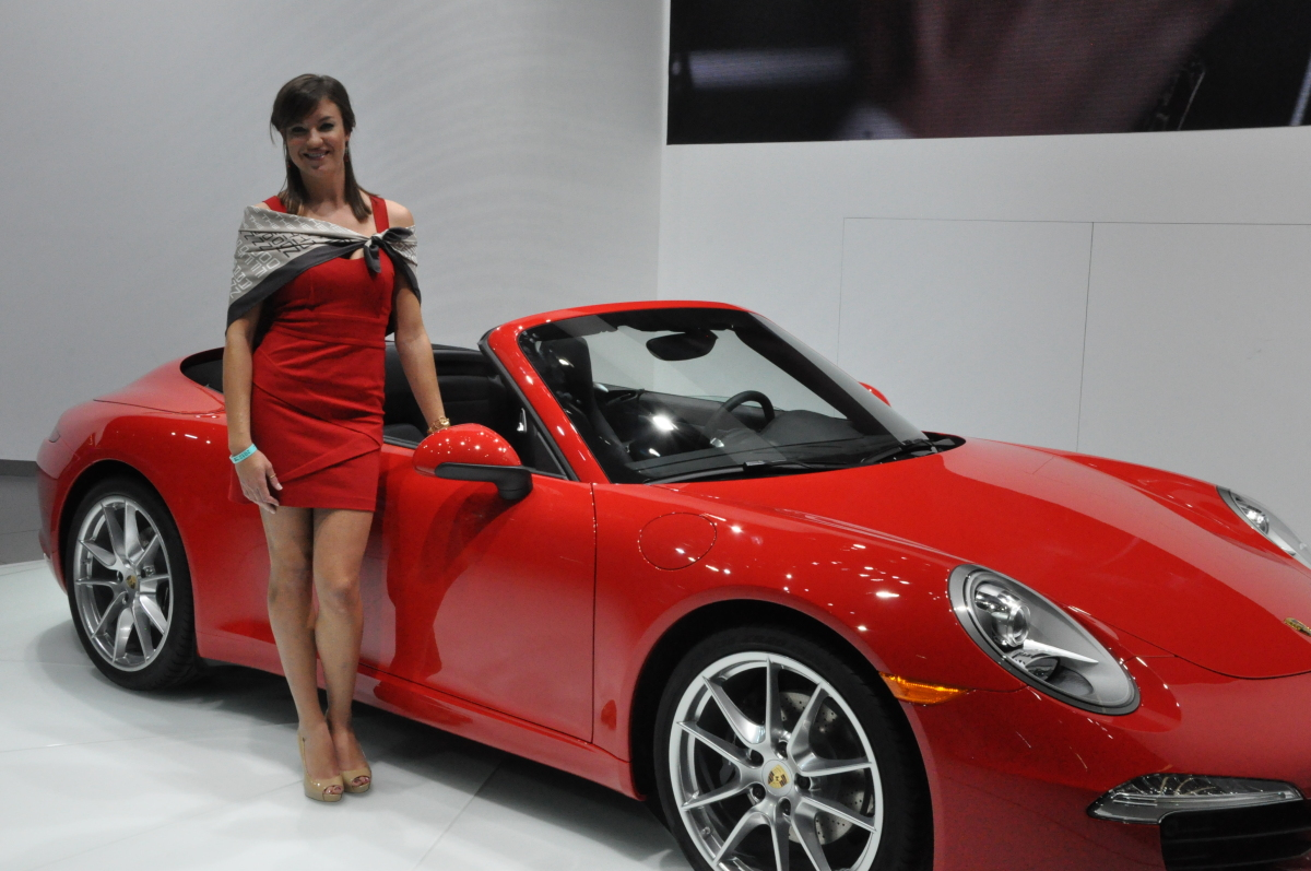 Jill Brownfield is a product specialist who was at the auto show for Porsche. She lives in Dallas but travels the world repre
