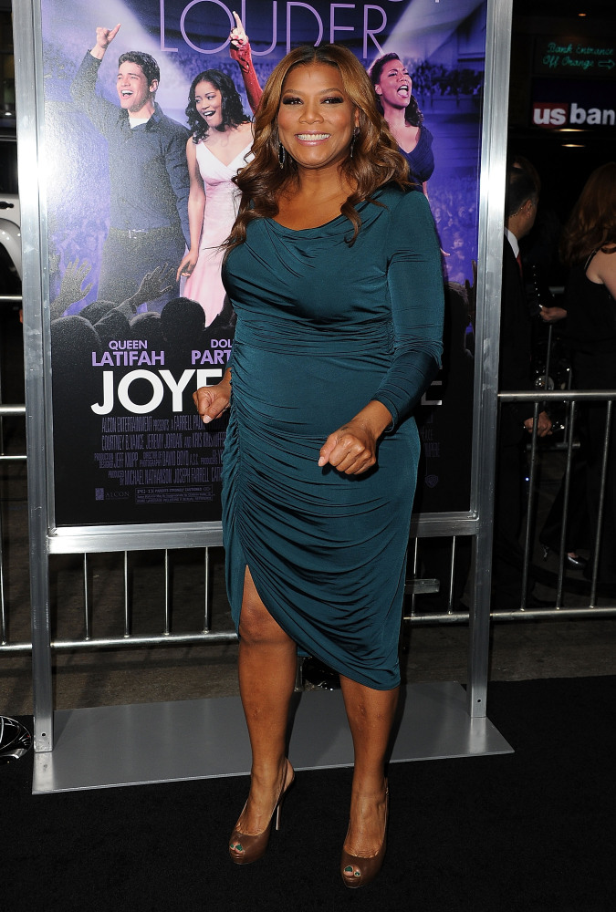 HOLLYWOOD, CA - JANUARY 09:  Actress Queen Latifah arrives at the premiere of Warner Bros. Pictures' 'Joyful Noise' held at G