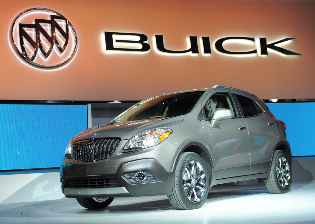The 2013 Buick Encore Crossover SUV is introduced during the press preview day at the 2012 North American International Auto