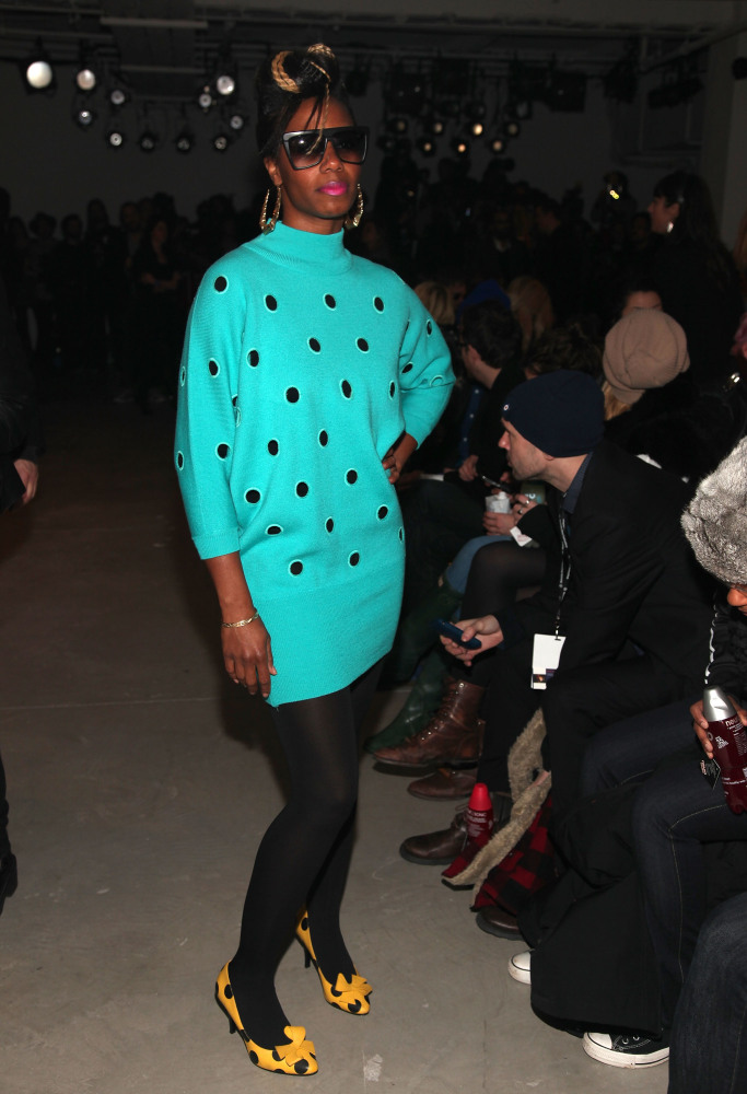 NEW YORK - FEBRUARY 17:  Recording artist Santigold attends the Jeremy Scott Fall 2010 Fashion Show during Mercedes-Benz Fash