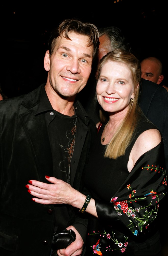 LOS ANGELES, CA - DECEMBER 13: Actor Patrick Swayze and wife Lisa Niemi, pose at the premiere of MGM's 'Rocky Balboa'  after