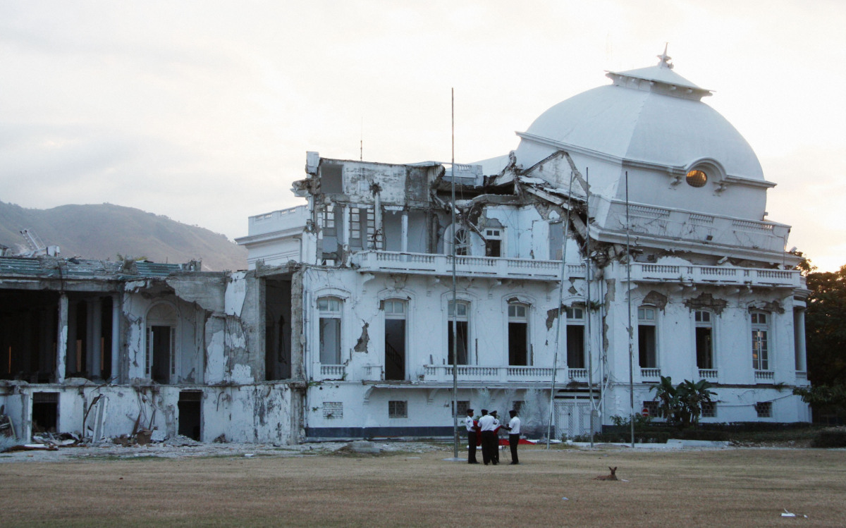 Photo taken on Jan. 5, 2012, shows the presidential palace of Haiti in Port-au-Prince, still unrepaired since it was damaged