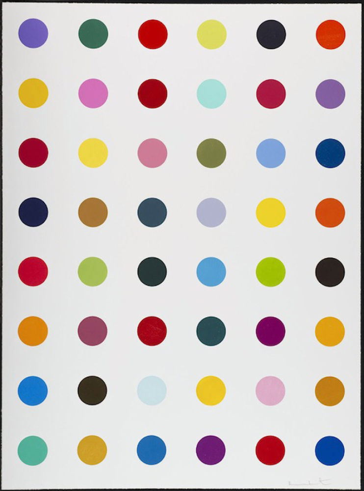 Damien Hirst Hydroxylysine, 2010 Color woodcut 65 X 48 inches (165.1 X 121.92 cm)