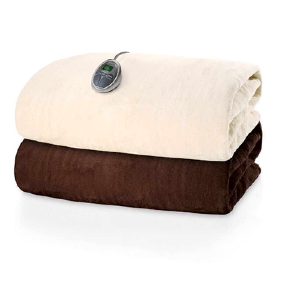 It doesn't have to be queen or king size, this polyester throw size heated blanket is great for toting around the house. <a h