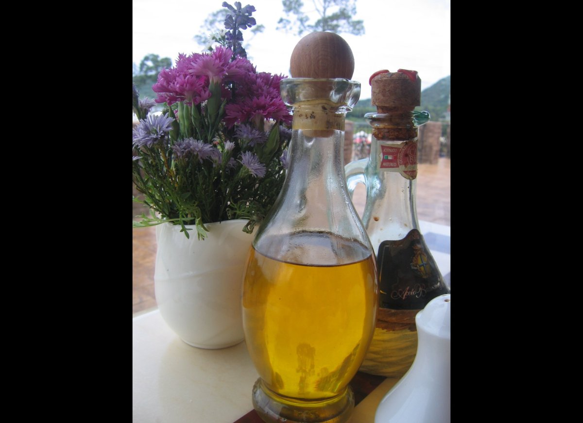 Make olive oil, which is high in monounsaturated fat, your go-to cooking oil. By replacing butter with olive oil -- the most