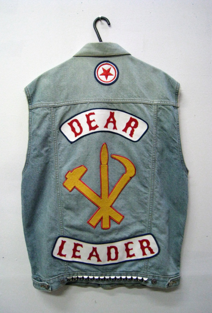 Tony Garifalakis, Leader of the Pack, 2011, Mixed media on denim vest, Dimensions variable, Courtesy of the artist