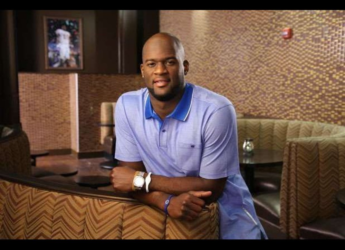 Though he now plays in the NFL, quarterback Vince Young remains king in Austin for leading the University of Texas football t