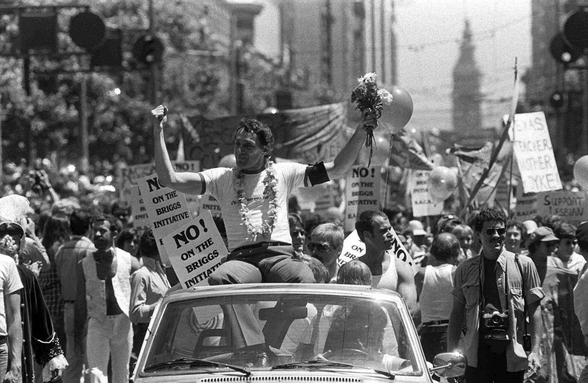 Harvey Milk -- the first openly gay man elected to public office in California and a legend in the gay rights movement -- cal