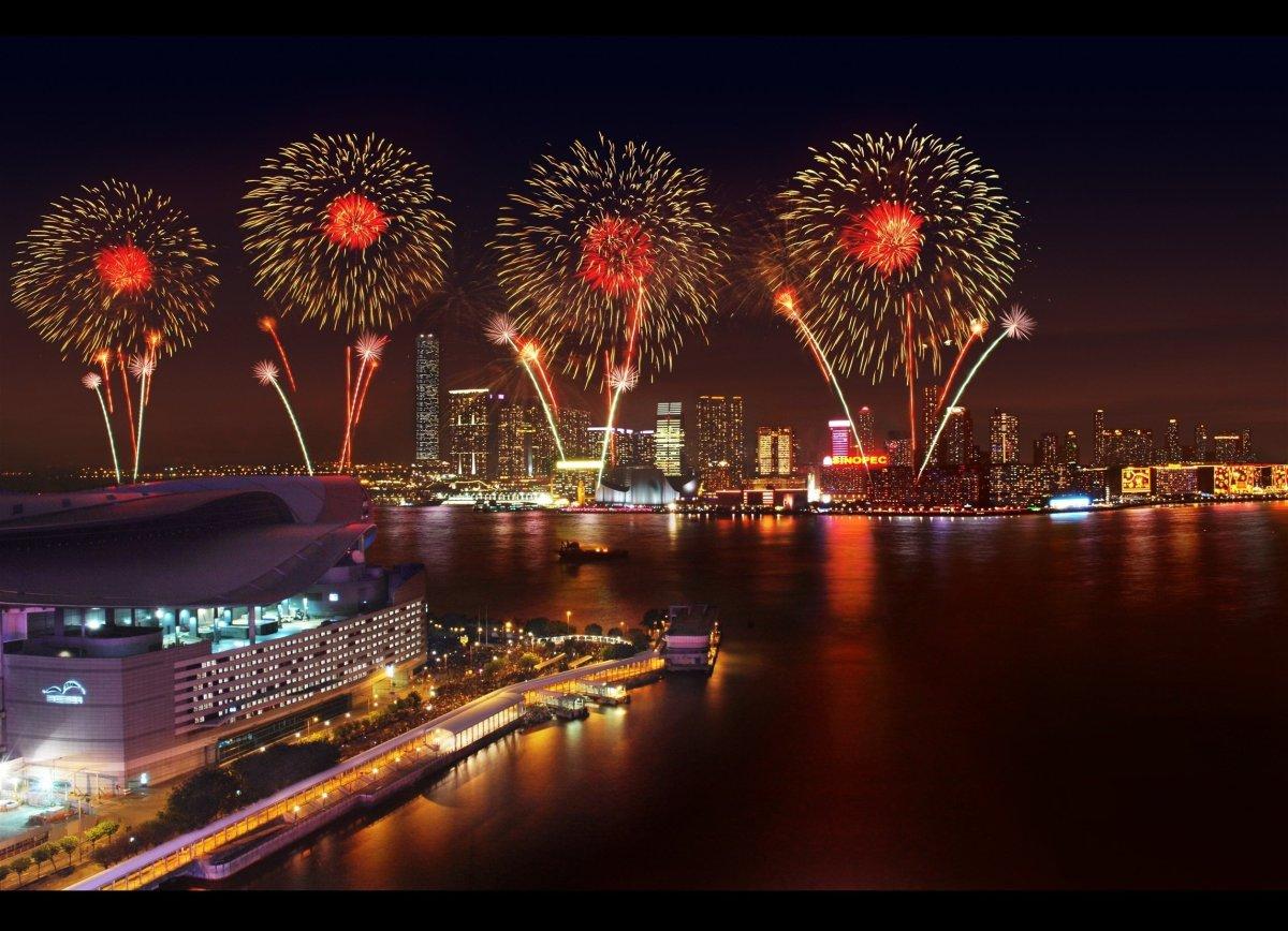 Unforgettable fireworks display in Victoria Harbor, Hong Kong.  <em>Photo: Courtesy of the Hong Kong Tourism Board   </em>