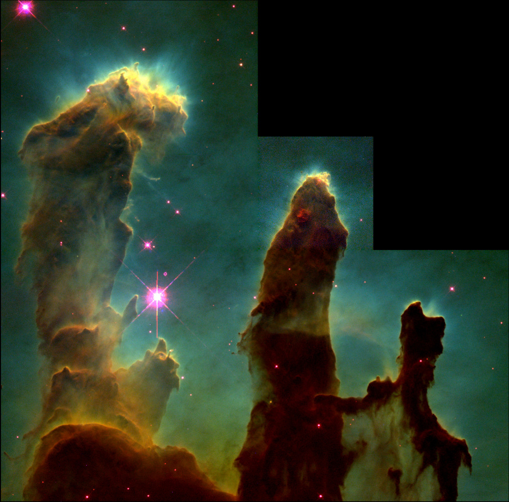 This 1995 Hubble Space Telescope image of the 'Pillars of Creation' is probably the most famous astronomical image of the 20t