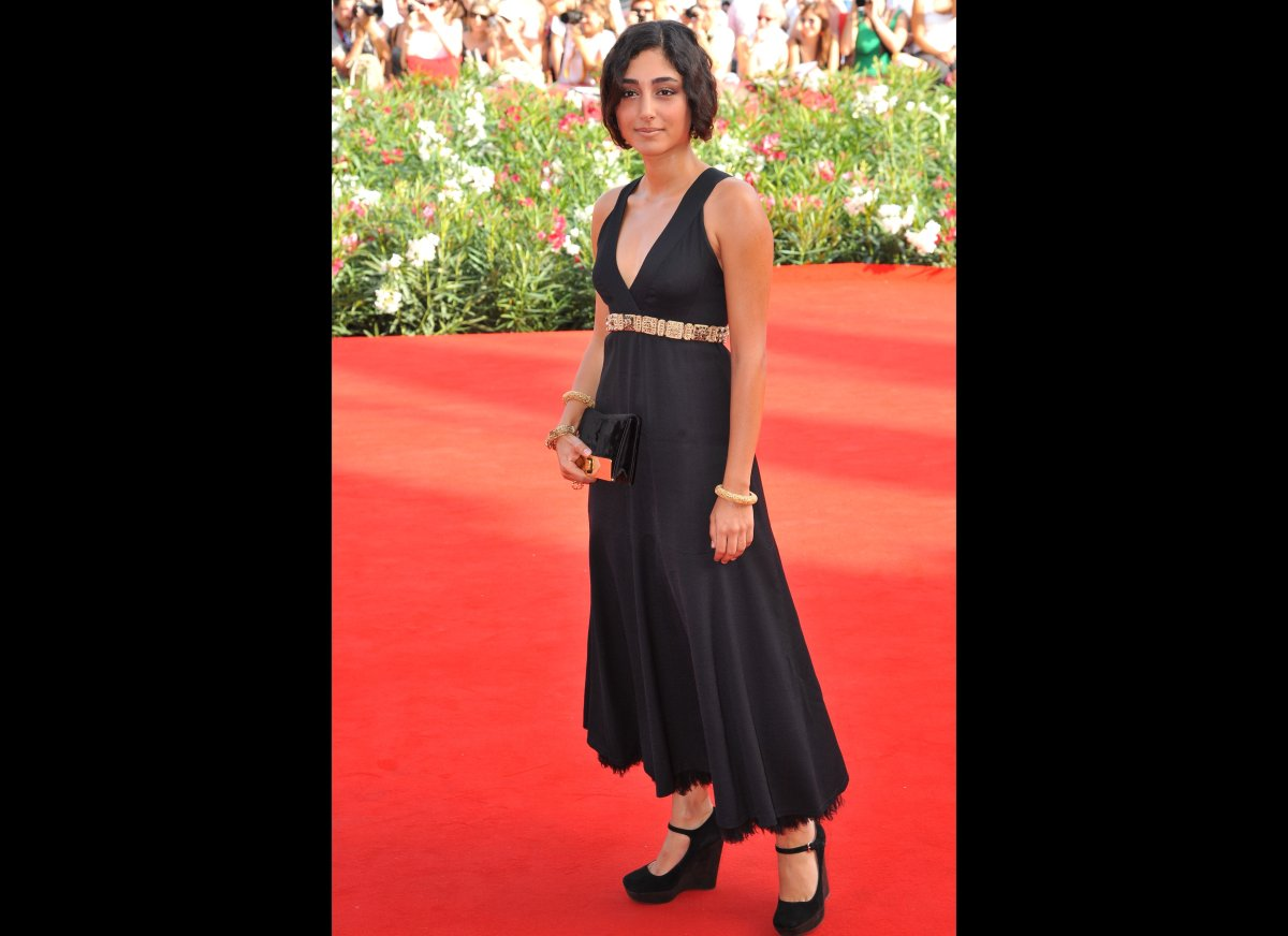 Actress Golshifteh Farahani arrives for the screening of 'Poulet aux prunes' at the 68th Venice Film Festival on September 3,