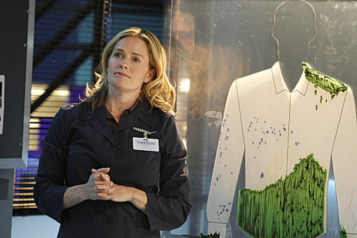 """Elisabeth Shue as Julie Finlay in her first episode of """"CSI"""" airing Wed., Feb. 15 at 10 p.m. EST."""