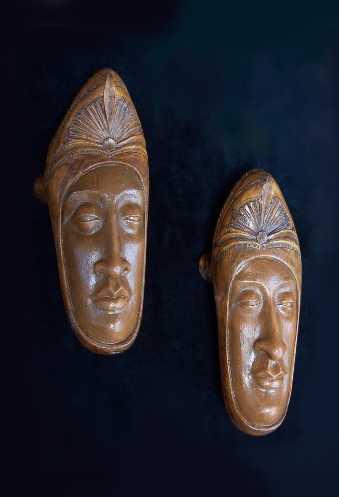 """""""Ananda,"""" Foot Fetish #76 ash clay, acrylics, carved wooden chopines 2011"""