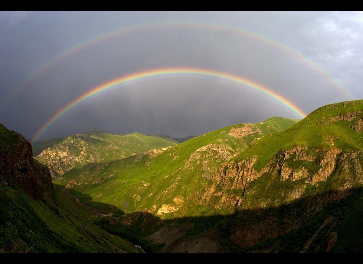 "A double rainbow in the Kelbajar region of Nagorno Karabakh. (Credit: <a href=""http://www.hrairhawk.com/"" target=""_hplink"">Hr"