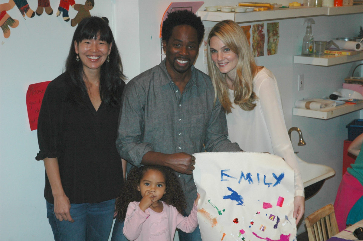 Ai-Jen Poo, Director of the National Domestic Workers Alliance with Harold Perrineau of LOST, his wife Brittany and their dau