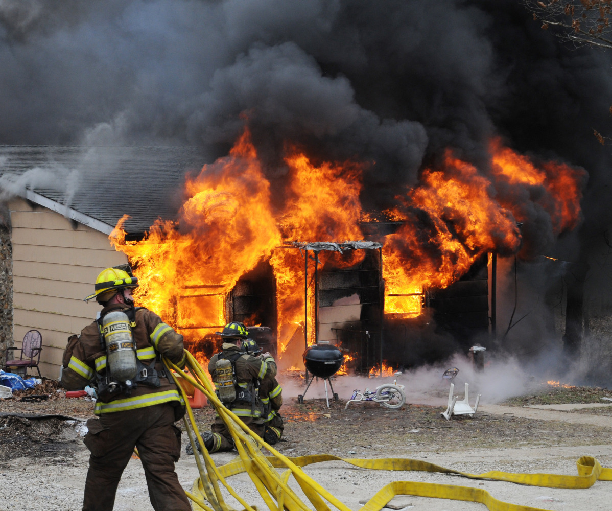 Firefighters battle a blaze at a Union, Mo. home that was allegedly caused when the unstable ingredients used in making meth