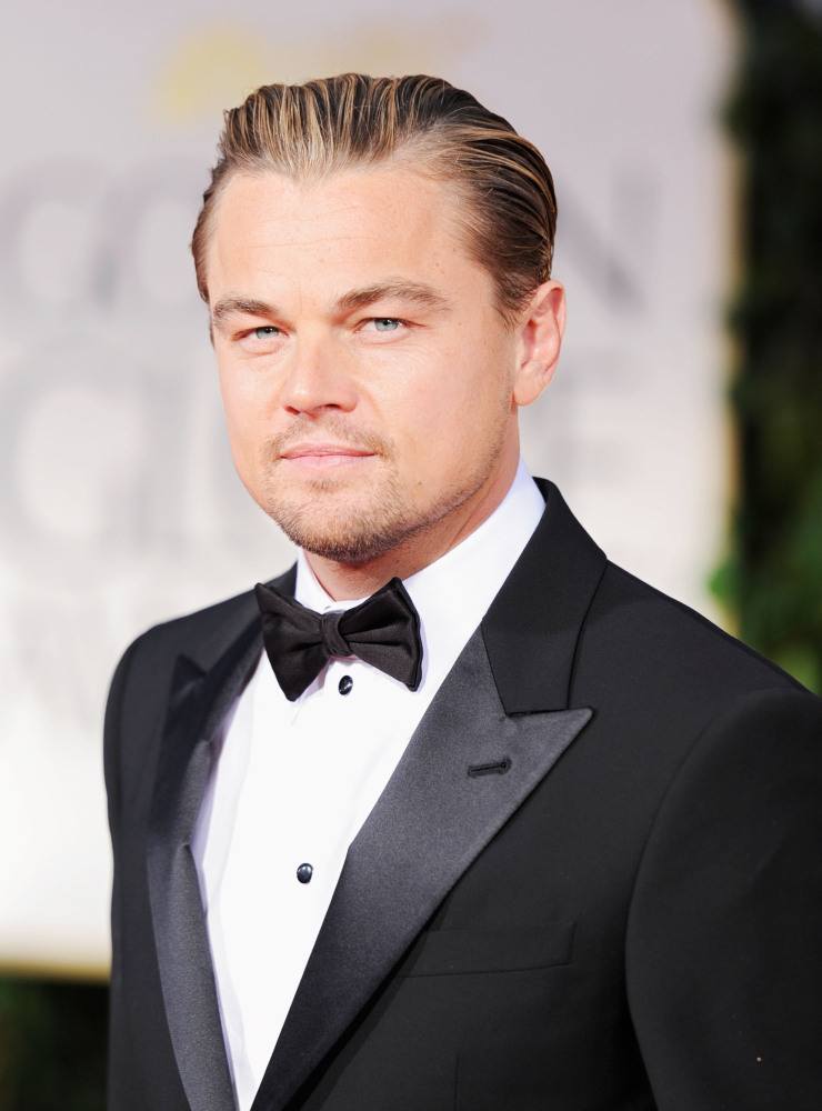 Actor Leonardo DiCaprio arrives at the 69th Annual Golden Globe Awards held at the Beverly Hilton Hotel on January 15, 2012 i